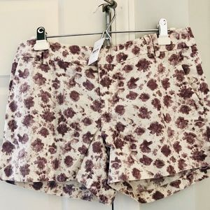 NWT loft watercolor linen shorts 6 purple